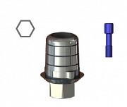 STCS-S16/S17 with hex  Титановая база с шестигранником CAD-CAM для S16/S17, SGS доставка из г.Москва