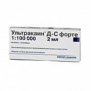 Ультракаин Д-С Форте 1/100 ампулы 10х2мл доставка из г.Москва