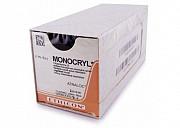 Монокрил Плюс 6/0 Johnson&Johnson, игла колющая RB-2, цвет фиолетовый, 45 см доставка из г.Москва