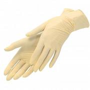 Перчатки латексные, светло-желтые, M, 100 шт,  SFM доставка из г.Москва