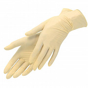 Перчатки латексные, светло-желтые, L, 100 шт,  SFM доставка из г.Москва